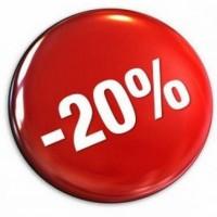 Скидка 20% (и больше) на модули и шаблоны до понедельника