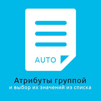 Автоматическое добавление атрибутов и их значений в товары