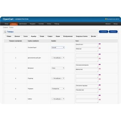 Быстрое редактирование атрибутов товара и опций без автозаполнения.