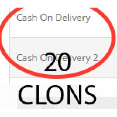 20 клонов оплаты при доставке (cod) для 2.0.x