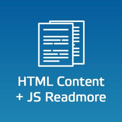 Текстовый блок - HTML + JS Readmore