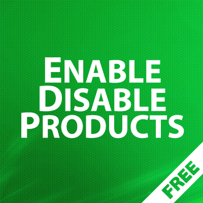 EnableDisable Products - групповое управление статусами товаров 1.06