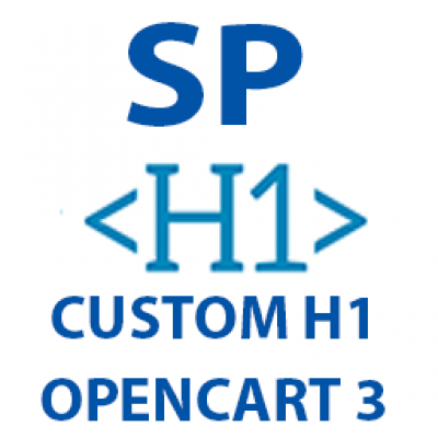 Opencart 3 Custom H1 Products, Categories, Information pages 1.0.0