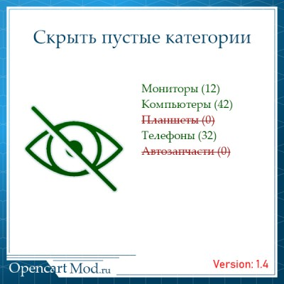 Скрыть пустые категории opencart