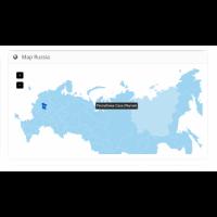 Карта России с регионами для OpenCart 2