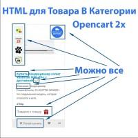 HTML для Товара в Категории Opencart 2x