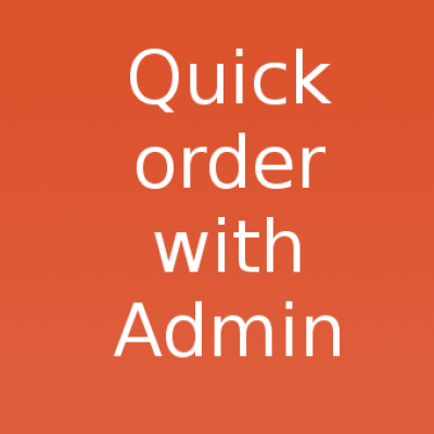 Модуль быстрого заказа с административной частью