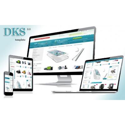 Живой шаблон DKS template 3.0 - динамичный многомодульный шаблон 3.0
