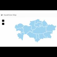 Карта Казахстана с регионами для openCart 2